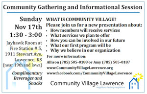 Community Gathering and Informational Session